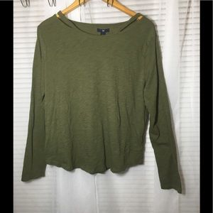 Women's Green Gap Long Sleeve Shirt Size XL